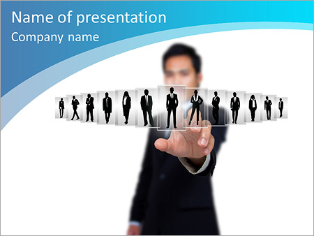 concept about business leaders. teamwork. powerpoint template, Modern powerpoint