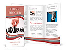 Business man moving chess figure Brochure Templates