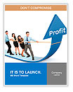 Portrait of business team pulling up bar using rope. growth profit chart concept Word Templates