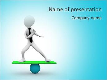 3d homem equilibrando em esfera Modelos de apresentações PowerPoint