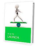 3d man balancing on sphere Presentation Folder