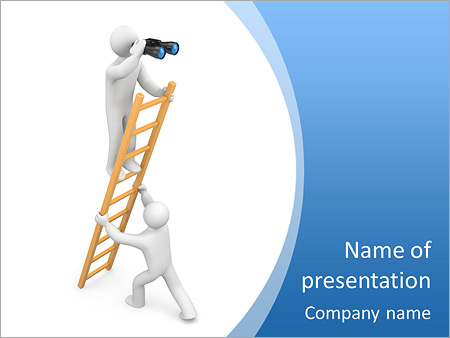 Observer. Teamwork. Image contain clipping path PowerPoint Template ...