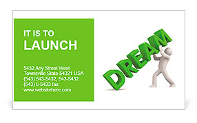 3d person and dream. Image contain clipping path Business Card Templates