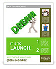 3d person and dream. Image contain clipping path Poster Template