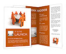 Conference. Concept. 3d illustration Brochure Template