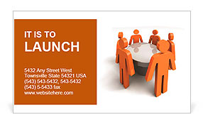 Conference. Concept. 3d illustration Business Card Template