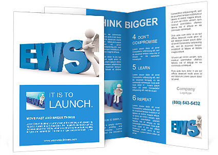 3d person read newspaper brochure template design id 0000009807