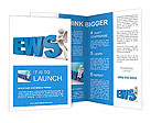 3d person read newspaper Brochure Templates