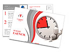 Deadline. Image contain clipping path Postcard Template