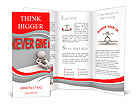 "3d render of stressed and frustrated man with text ""never give up"" Brochure Templates"