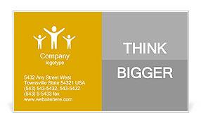 3d people reading book. 3d render illustration Business Card Templates