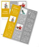 3d people reading book. 3d render illustration Newsletter Template