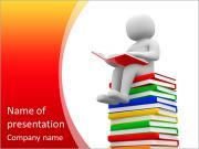 Povos 3d livro de leitura. 3d rendem a ilustração Modelos de apresentações PowerPoint