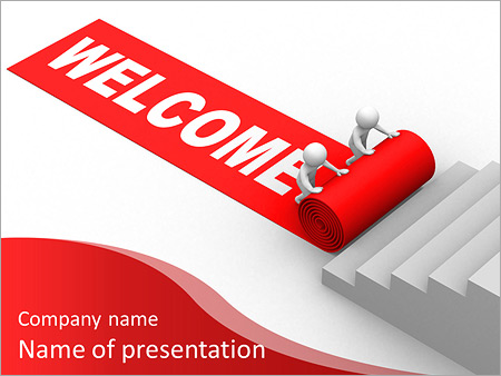 Welcome success this is a 3d render powerpoint template backgrounds id 0000009816 for Smiletemplates