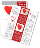 Love/A person are diagnosing the heart Newsletter Templates