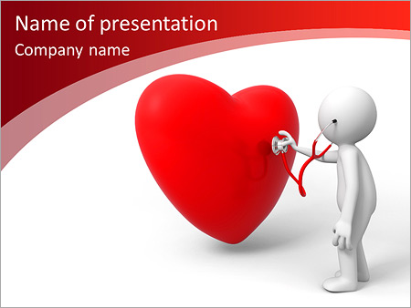Lovea Person Are Diagnosing The Heart Powerpoint Template