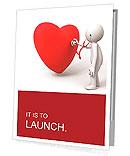 Love/A person are diagnosing the heart Presentation Folder