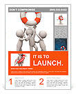 Life buoy/Three people is fighting for a life buoy Flyer Template
