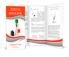 3d man success in business, on white background Brochure Templates