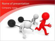 Raça / competição / win / sucesso / três pessoas na corrida Modelos de apresentações PowerPoint