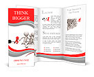 Race/competition /win/success/Four people in the race Brochure Templates