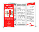 Race/competition /win/success/Five people in the race Brochure Templates