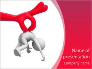 Control /A big hand holding a person PowerPoint Templates