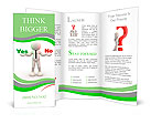 "3d people - man, person presents ""yes"" and ""no"" words Brochure Template"