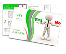 "3d people - man, person presents ""yes"" and ""no"" words Postcard Template"