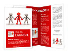 3d people - men, person together. Team and leadership Brochure Template