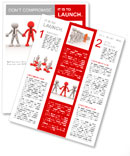 3d people - men, person together. Team and leadership Newsletter Template