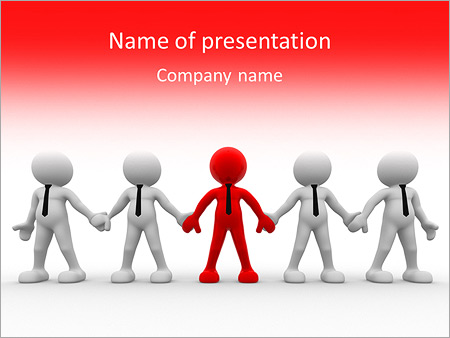 3d people - men, person together. Team and leadership PowerPoint ...