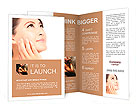 Close up of beautiful asian woman face Brochure Templates