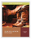 American West rodeo cowboy traditional leather working rancher roper boots with authentic Western ri Word Templates