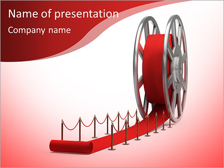Cinema Film Roll And Red Carpet Isolated 3d Illustration High