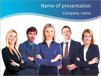 Business people group. Business team. Isolated over white background. PowerPoint Template