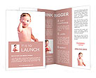 Itching baby boy Brochure Template