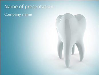 Tooth - included clipping path PowerPoint Template