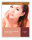 Asian beauty skin care woman face, Beautiful young woman touching her face looking to the side. Isol Word Templates