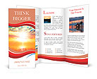 Glowing Atmosphere Sun Rising Brochure Templates