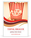 Depiction Of The Fifties Cinema Era With A Vintage Red Striped Old Popcorn Box Overflowing With Butt Ad Template