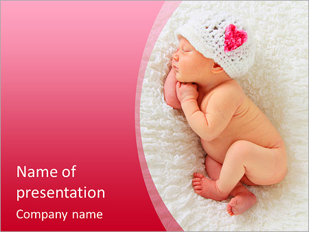 Kids powerpoint templates backgrounds google slides themes powerpoint template download newborn baby girl asleep on a blanket this image is also available in a christmas toneelgroepblik Image collections