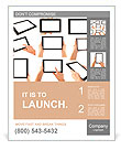Tablet computer isolated in a hand on the white backgrounds. collections Poster Template