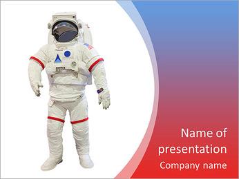 Les astronautes isolés blanc Modèles des présentations  PowerPoint