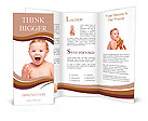Joyful baby boy Brochure Templates