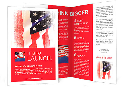 flag of the usa united states of america brochure template