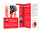 Flag of the USA (United States of America) Brochure Template
