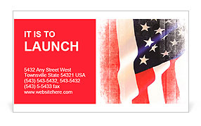 Flag of the USA (United States of America) Business Card Template