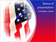 Flag of the USA (United States of America) PowerPoint Templates