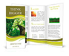 Forest trees. nature green wood sunlight backgrounds. Brochure Templates